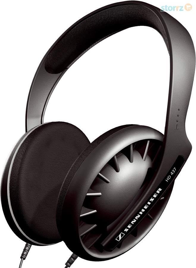 Traditional Open Hi-Fi Stereo Headphones Black HD437
