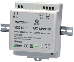 Alimentatore Switching DIN 60W 12V 1OUT