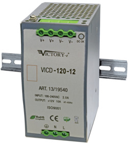 Alimentatore Switching DIN 120W 12V 1OUT