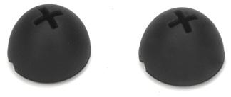 Spare rubber foam earpads black for HDE 300E