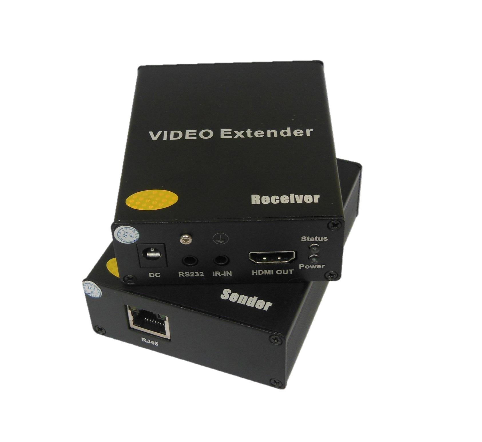 Estensore HDMI su Cat.5/6e max 50m (TX+RX) con IR e funzione distribuzione a stella
