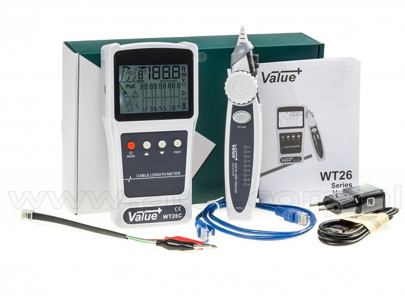 tester LAN con funzione di cable lenght meter value+ WT26B