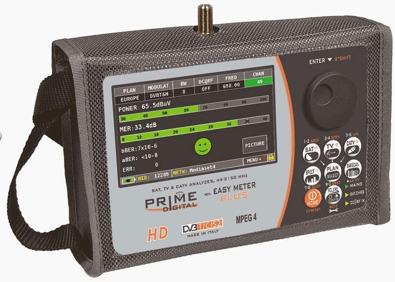 Analizzatore professionale EASY METER PLUS per:DVB-S/S2 DVB-T/T2