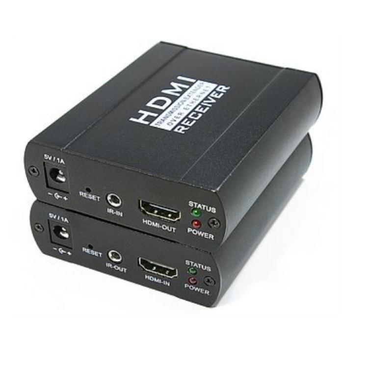 Estensore HDMI + IR su Cat.5/6e max 100m (TX+RX)