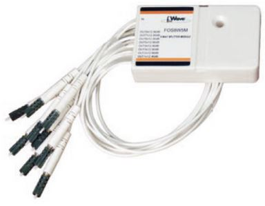 Coupler F.O. 4 vie 80/5*4 con 30cm fibra preterminta 5M 1,65dB - 15,8dB