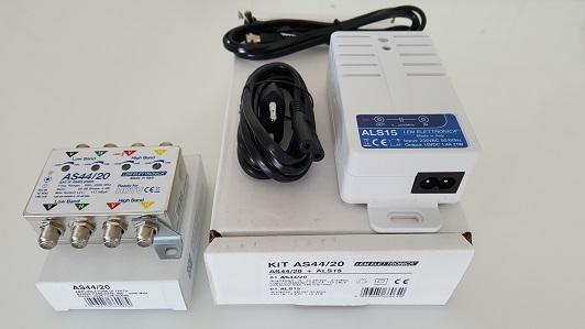 KIT Amplificatore SAT IF AS44/20 + Alimentatore ALS15