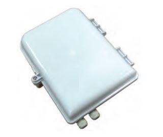 Contenitore a parete, per esterno, con 2 ingressi per 16 bussole SC-APC.Dimensioni: 260x320x90mm