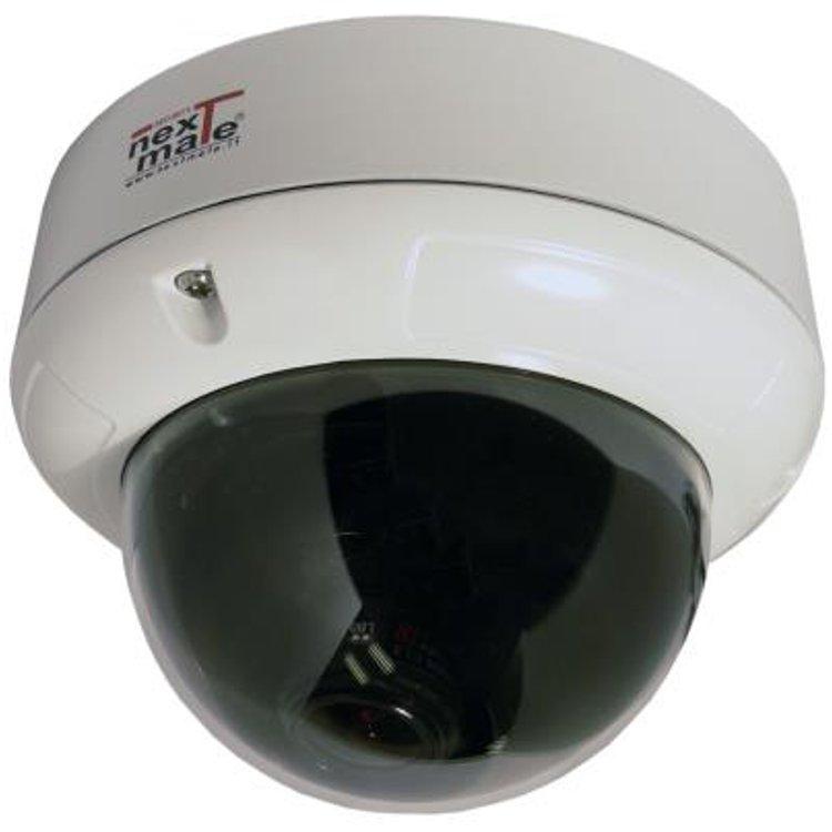 Telecamera Dome Antivandalo D&N DSP SAMSUNG Winner 5 600 TVL; Uscita VIDEO BNC o RJ45 selezionabile, Filtro IR Meccanico; Ottica Varifocal 2,8~11mm; Menu` OSD,Alim. 12/24V 400mA IP66 Dim. Ø 140mm