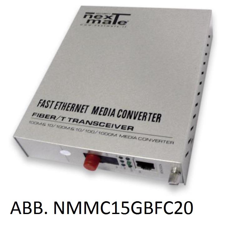 Media Converter WDM su FO SM 10/100/1000 (solo abbinato a NMMC15GBFC20)