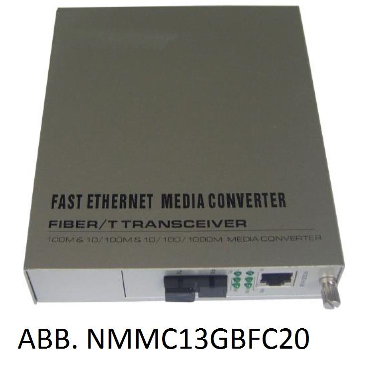 Media Converter SK WDM su FO SM 10/100/1000 (abbinato a NMMC13GBFC20)