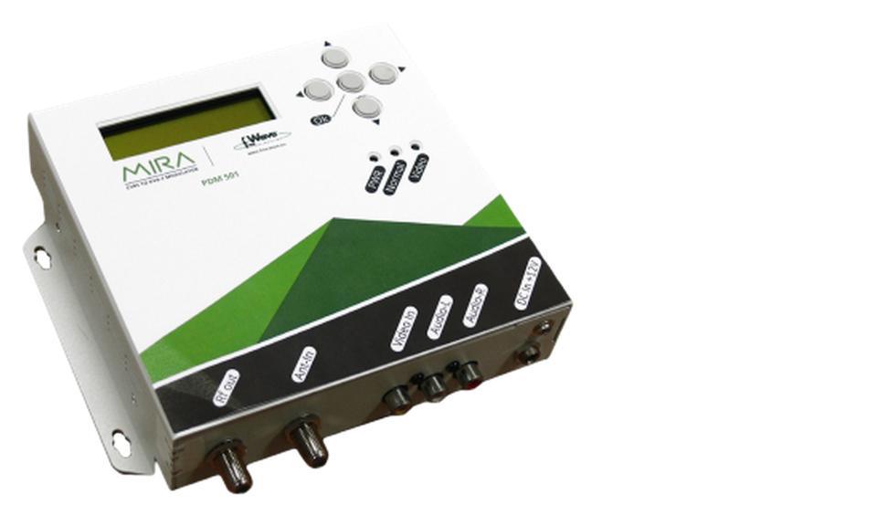 Modulatore + encoder 1 AV C-OFDM Stand-alone MIRA