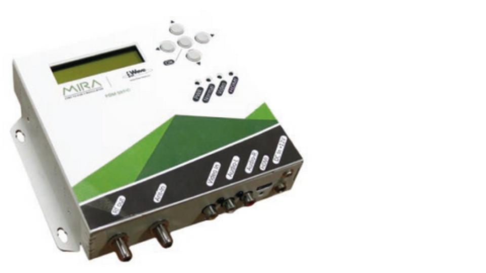 Modulatore AV-COFDM con programmatore uscita MUX DTT BANDA 170-862MHZ AUTOALIMENTATO