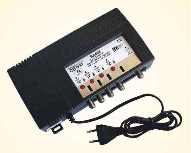 Centralino SA533 I,III,IV,V,UHF 33dB Reg. Amp. Separate