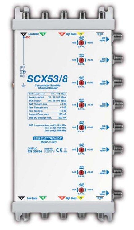 Multiswitch SCR o Legacy 5X5X8 (3 Porte scr per Out) Att. Var