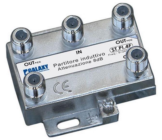 Divisore 4 Vie 5-2400MHz F pressofusione PowerPass
