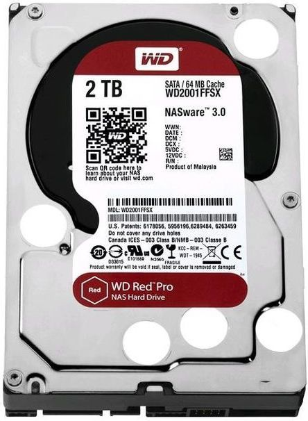 Hard Disk RED Pro 2TB NAS Editon WD2001FFSX SATAIII / 600 64 megabytes cache