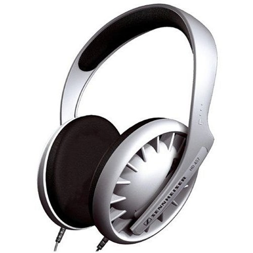 Traditional Open Hi-Fi Stereo Headphones Silver HD457