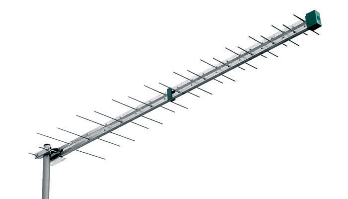 Antenna Log 21-37 G:11,5dB A/R: 30dB 120cm 28 elementi Serie UNI-LINE Silver