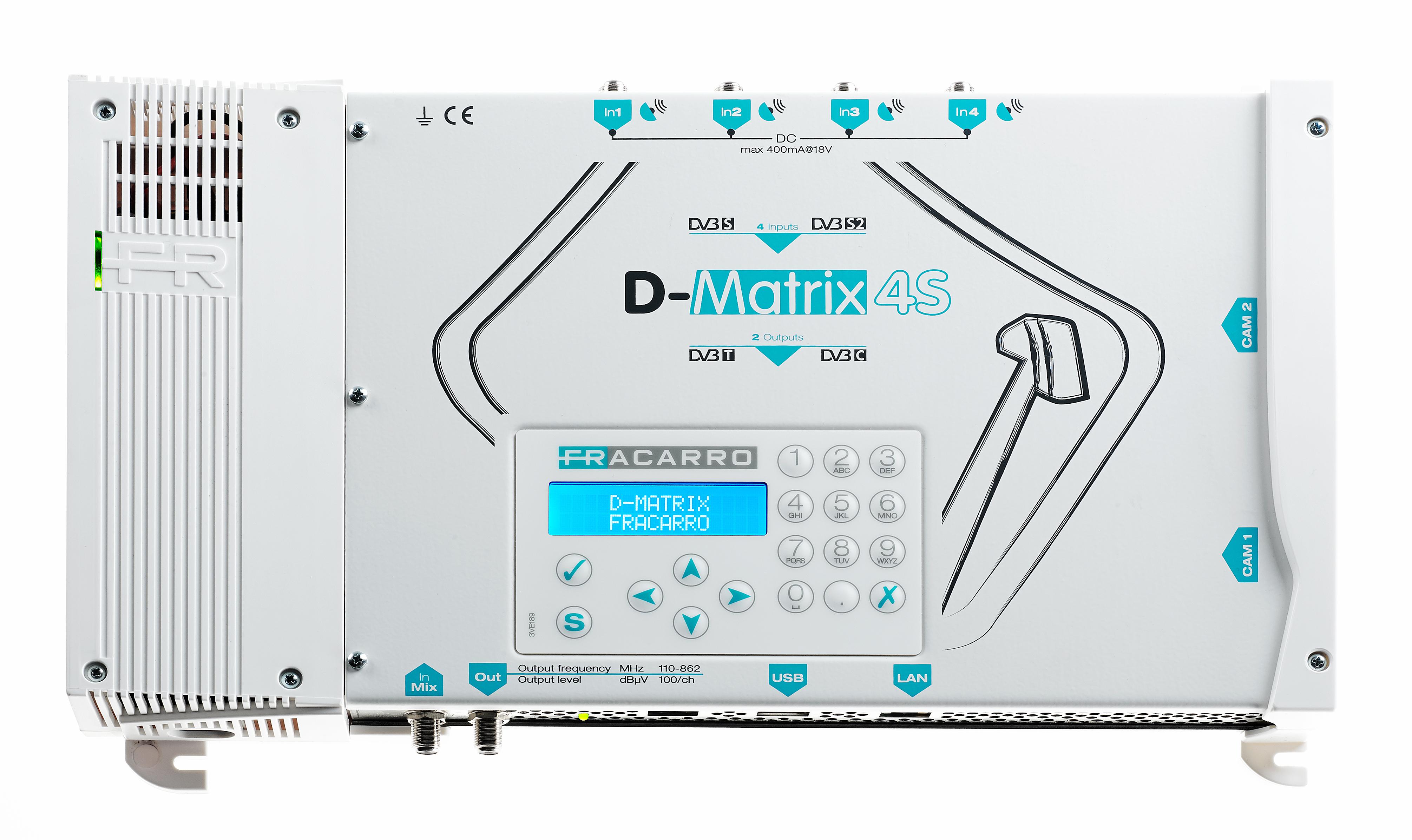 Trasmodulatore DVB-S DVB-T D-Matrix-4S 2 Slot CI Programmabile