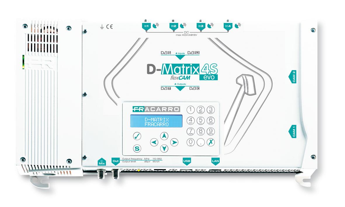 Trasmodulatore DVB-S DVB-T D-Matrix-4S EVO 2 Slot CI Programmabile