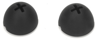 Spare rubber foam earpads black for HDE 300E