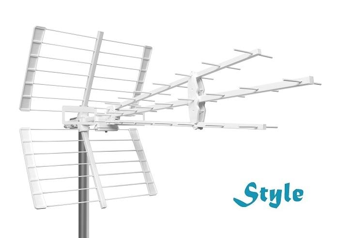 Antenna TV 3-line Style k21-60 41el LTE Bianca