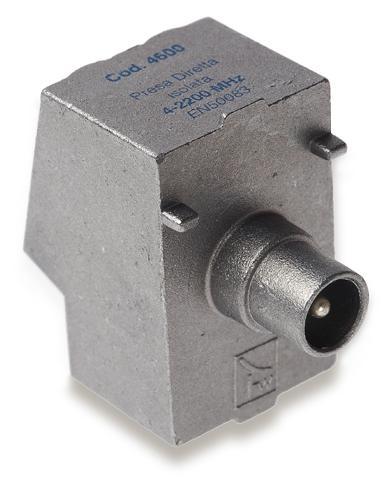 Presa in pressofusione 2,2 GHz diretta isolata boccola maschio