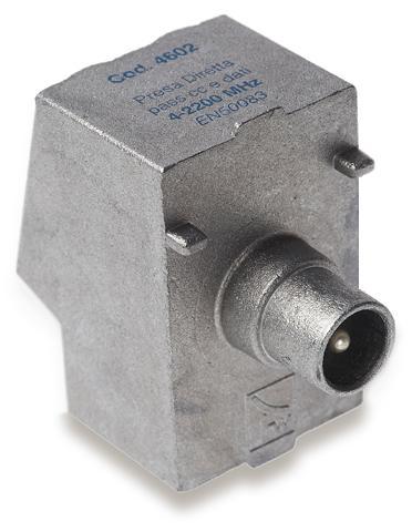 Presa in pressofusione 2,2 GHz diretta passaggio cc boccola maschio