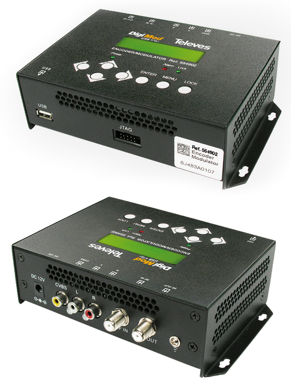 Modulatore + encoder 1 AV C-OFDM Stand-alone DigiMod