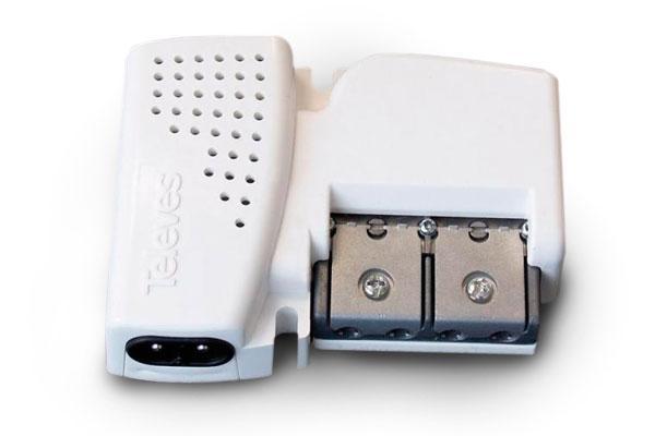 Amplificatore da interno VHF/UHF Picokom 12/20dB autoregolante e autoalimentato 2 OUT
