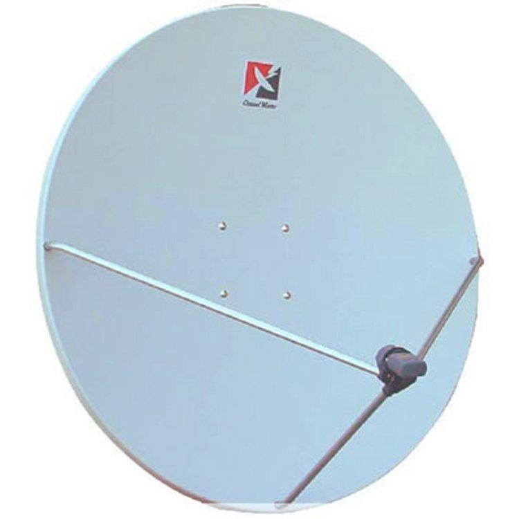 Parabola 100cm OffSet Vetroresina con AZ-EL su palo 76mm