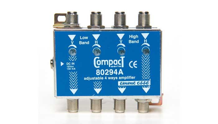Amplificatore di linea HVHV 20dB Reg.