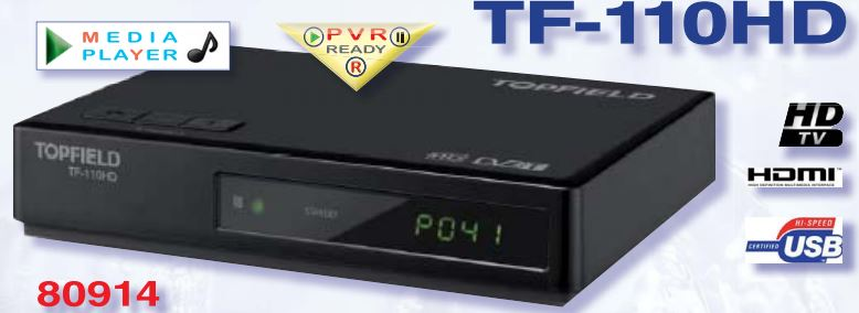 DECODER DVB-T2 HD TOPFIELD TF-110HD ZAPPER responsive