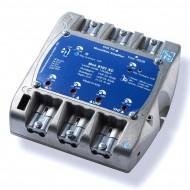 Centralino 4 ingressi III-IV-V-UHF 116 dBuV amplificazione d'uscita regolabile VHF 24-35dB UHF 24-35dB taglio IV/V 21/33 – 35/60 telealimentazione 100 mA