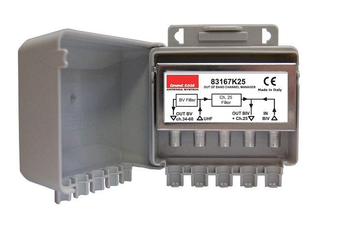 Miscelatore Filtro 2 vie passa/elimina canale UHF 35