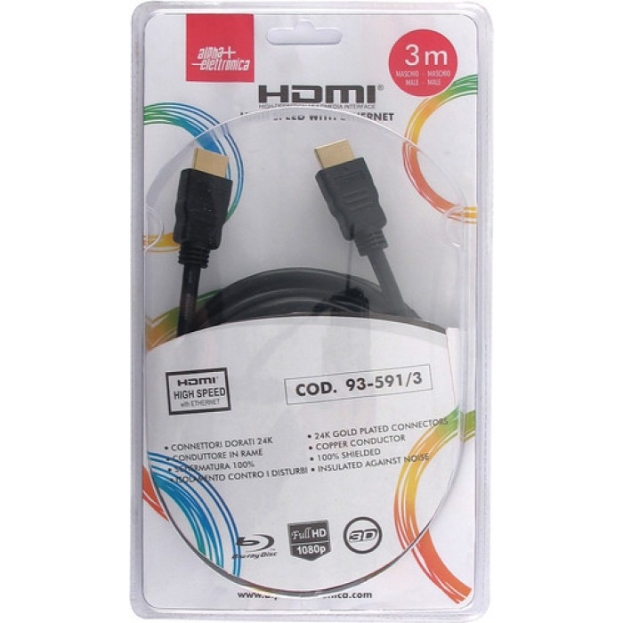 CAVO HDMI SPINA/SPINA 3M BLISTER