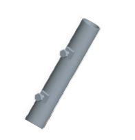 Palo singolo con bulloni 2mt, 45mm, sp 1,4mm