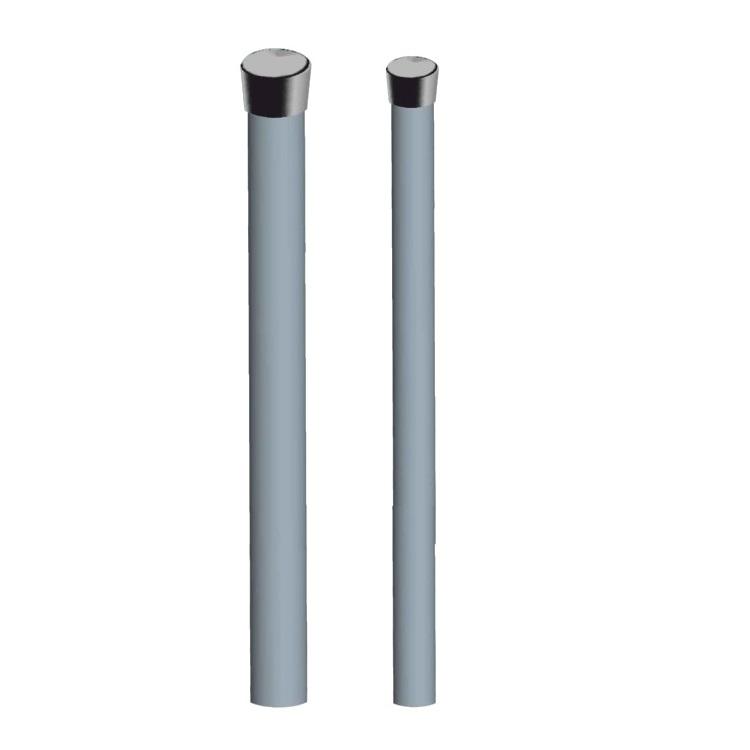 Palo Singolo Sat 1,5m 50x2mm Zinc. Fuoco Tappo Nero