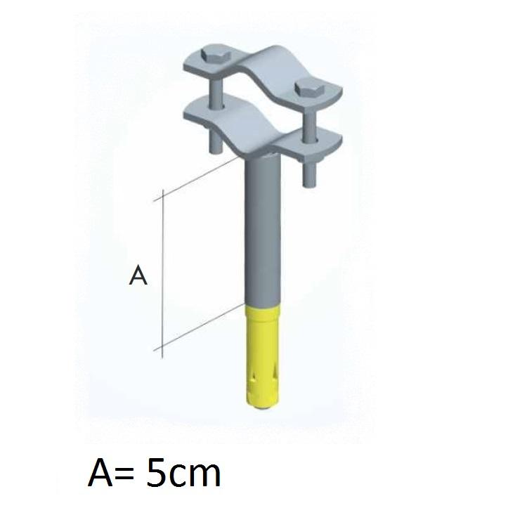 Zanca con tassello espansione e tubetto da 5cm