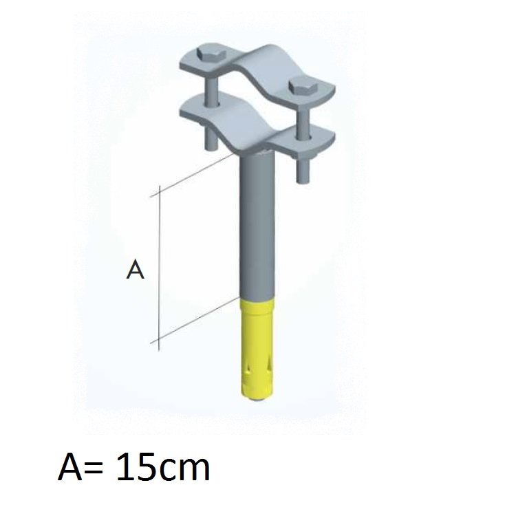 Zanca con tassello espansione e tubetto da 15cm