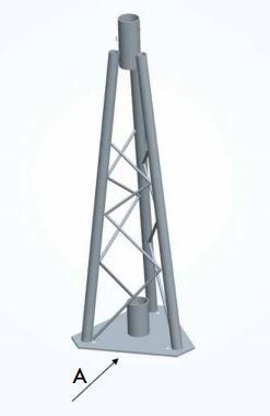 Interfaccia di testa traliccio per palo mt.1 – per palo Ø 50