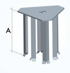 Base tiafondo per traliccio A134801 rinforzato