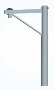 Palo con paranco di sollevamento Ø 48x3 per tralic.134801