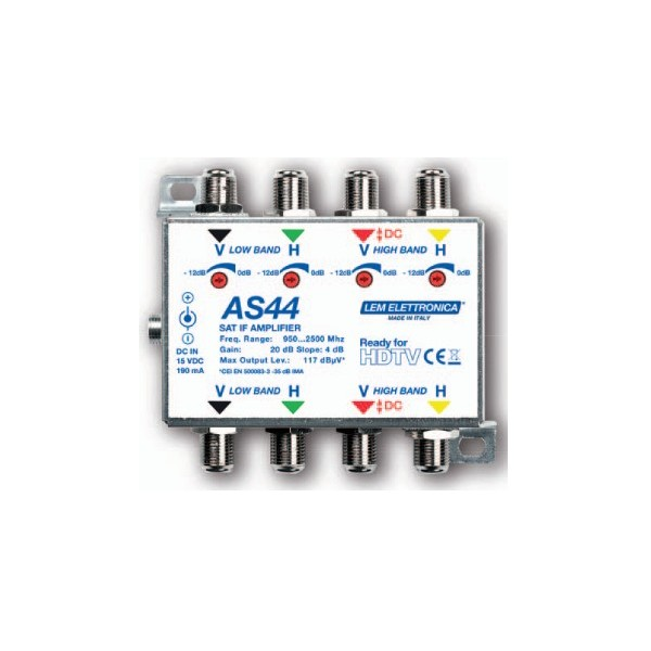 AMPLIFICATORE SAT DI LINEA 4IN 4OUT 20dB