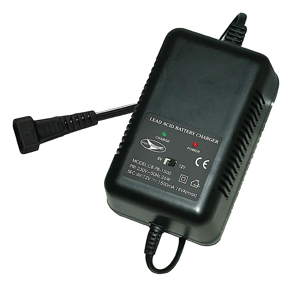 Lead Acid Battery Charger 6/12V 1500mA responsive