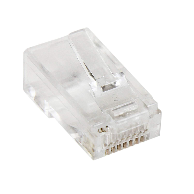 CONNETTORE RJ45 NON SCHERMATO per UTP 5/E e UTP 6 - NON FTP 5/E ed FTP 6 (Busta da 10 pz)
