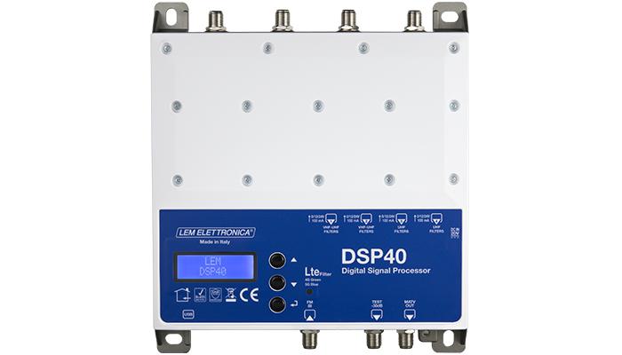 Centrale di Amplificazione a Filtri Digitali. Filtri Lte 4G/5G SAW. 1 Ing.FM: 40dB2 Ing.VHF/UHF: 40dB / 50dB2 Ing. UHF: 50dBLivello uscita totale: 120dB uV