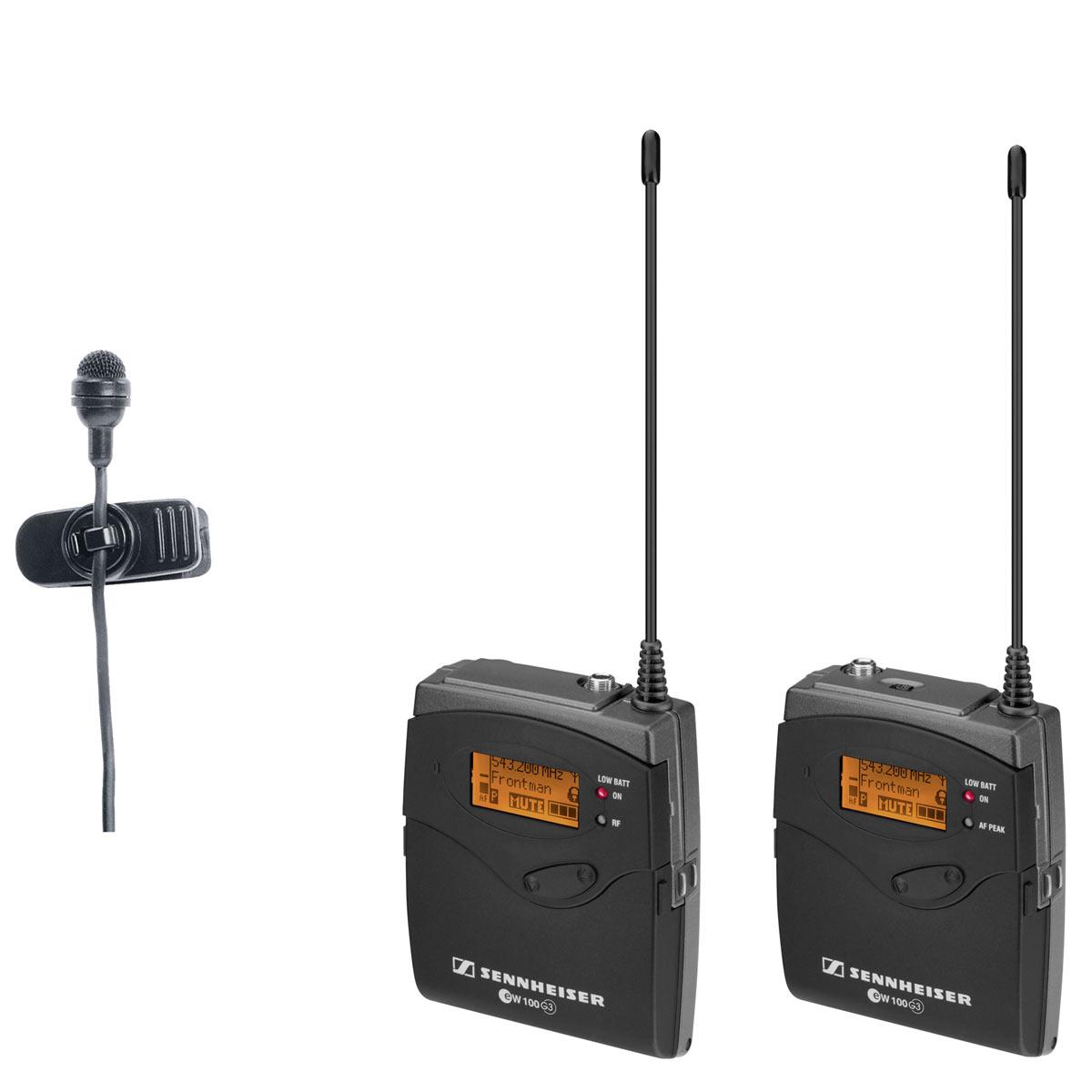 Kit Trasmettitore da tasca + microfono a clip ME4 + Ricevitore portatile G3 566-608MHz Range G