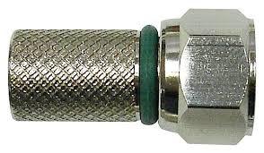 Connettore F a vite x cavo H400 (6,6mm) con O-Ring Verde (CF 100pz)