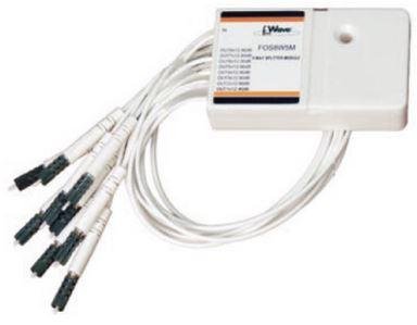 Coupler F.O. 4 vie 70/7,5*4 con 30cm fibra preterminta 5M 2,35dB - 14,9dB